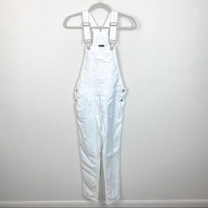 Gap White Distressed Overalls Size XS